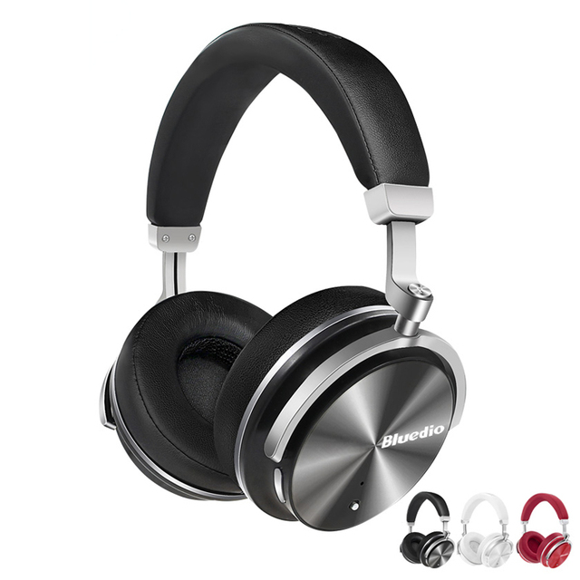 ANC Active Noise Cancelling Bluetooth Headphones HiFi Stereo Heavy Bass Over-ear Ecouteurs Auricolari Wireless Headset with Mic