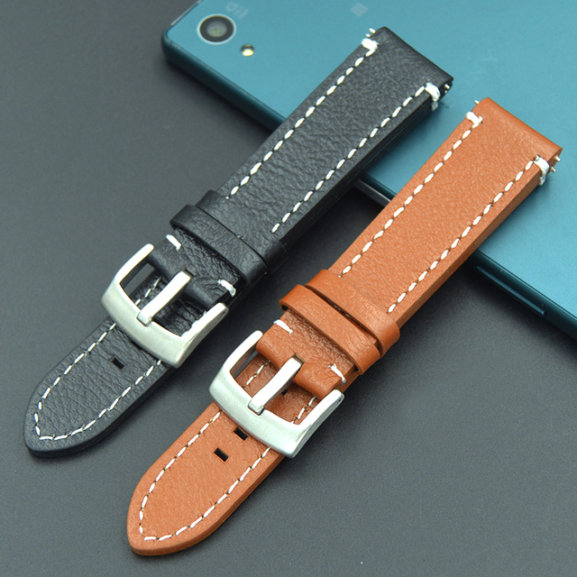18 19 20 21 22 mm belt watchbands genuine leather straps watch band watch accessories wristband for Tissot Seiko Mido Bracelet