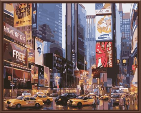 New Frameless Picture Painting By Numbers Wall Art DIY Canvas Oil Painting Home Of City Landscape Realist Style GX8136