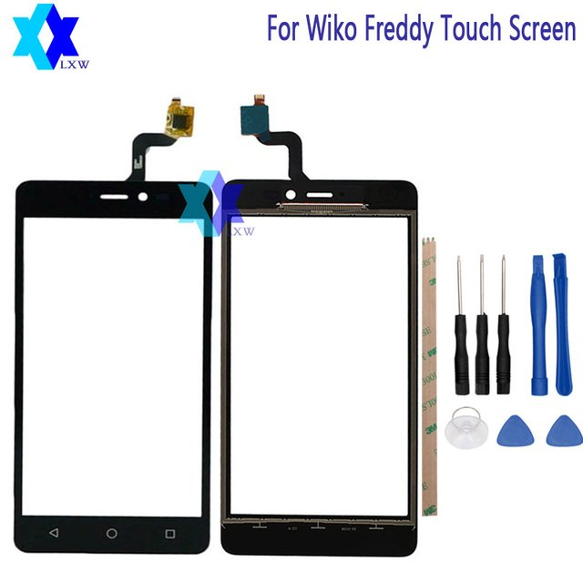 For Wiko Freddy Touch Screen Original Guarantee Original New Glass Panel Touch Screen 5.0 inch Tools+Adhesive Stock