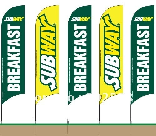 10pcs  swooper flag feather beach flag banner W/Spike or Screw Feet