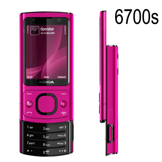 Original NOKIA 6700s 6700 Silder Mobile Phone 3G GSM Unlocked Refurbished Phone Hot pink