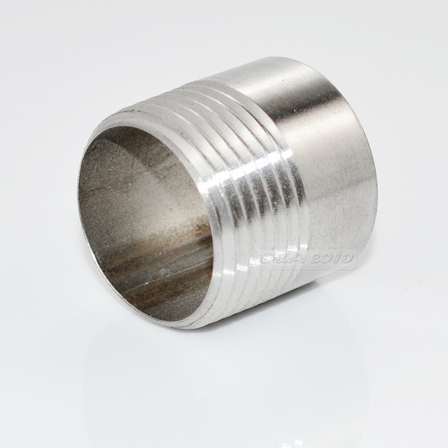 """MEGAIRON Brand New High Quality 1"""" Thread Pipe Fittings Single Male Stainless Steel SS304 New High Quality"""