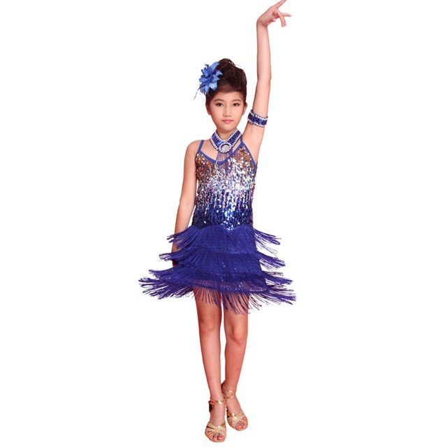 Latin Dance Dress For Girls Dress Dance Wear Vestido De Baile Latino Kids Dance Costumes Practice/Competition Dresses