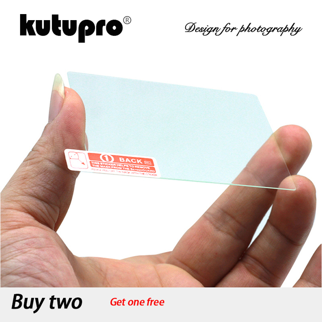 KUTUPRO 9H Tempered Glass LCD Screen Protector for Sony Alpha A6400 A6300 A6000 A5000 A3000 Digital Camera