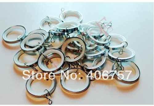 Top quality  metal Mute curtain rings for 19/22/25/28 mm diameter curtain rods by Eco-friendly plating  factory wholesale price