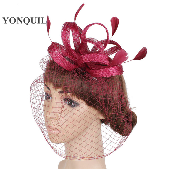 sinamay fascinator hats very nice bridal wedding hair accessoires Free shipping retail and wholesale 17color high quality MYQ115