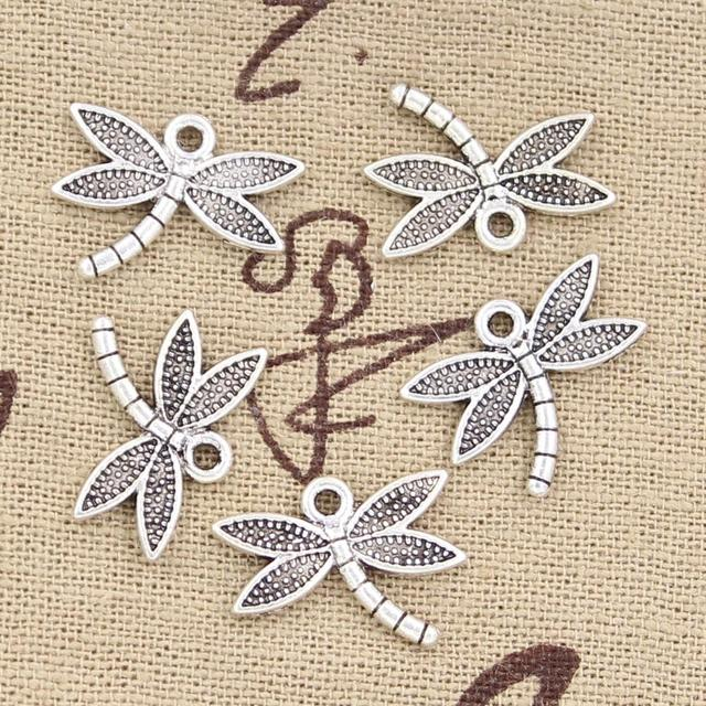 12pcs Charms Dragonfly 18x14mm Antique Making Pendant fit,Vintage Tibetan Bronze Silver color,DIY Handmade Jewelry
