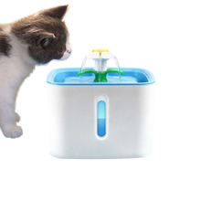 Pet Drinking Fountain Cat Dog Water Drink Dispenser Bowl Dish Filters Square Pet Cat Drinking Fountain Dispenser