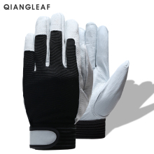 QIANGLEAF Brand Hot Sale D Grade Leather Glove Work Gloves Wear-resistant Safety  Working Gloves Men Mitten Free Shipping 508