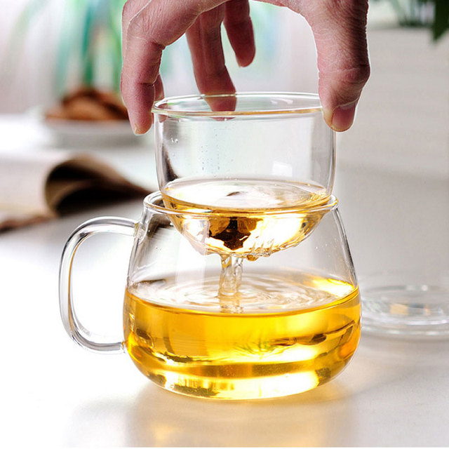 350ml Heat Resistant Teacup Tea Utensils Tea Cup for Drinks Home Kettle Strainer Water for Coffee Dorpshipping