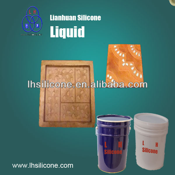 RTV silicone rubber liquid for architecture floor tiles mold making