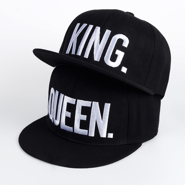 New Arrive Brand King Queen Snapback Cap Men Women Baseball Cap Sport Hip Hop Hat Couple Embroidery Hat Snapback Hat Wholesale