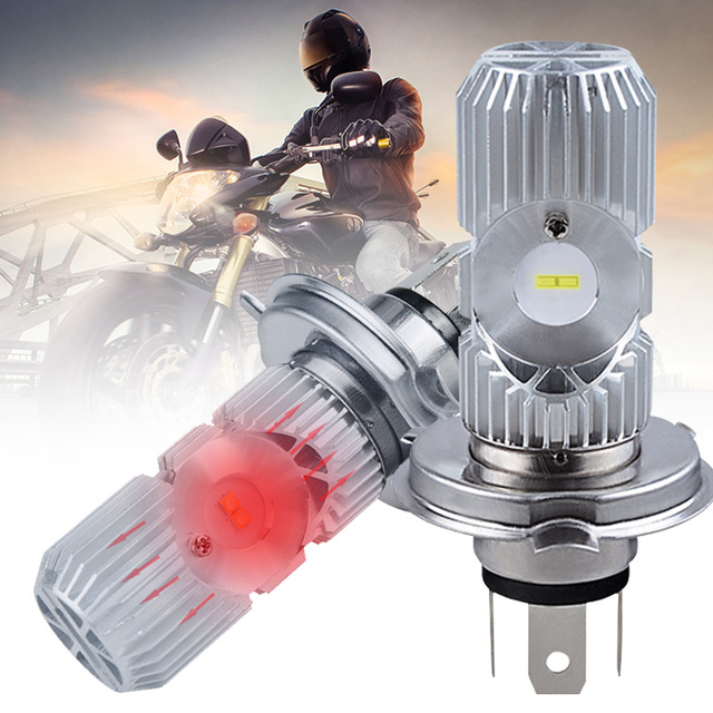 Vehemo H4 HS1 Front Lamp LED Light Motorcycle Light Motorbike for LED Headlight Universal Hi Lo Lamp Replacement