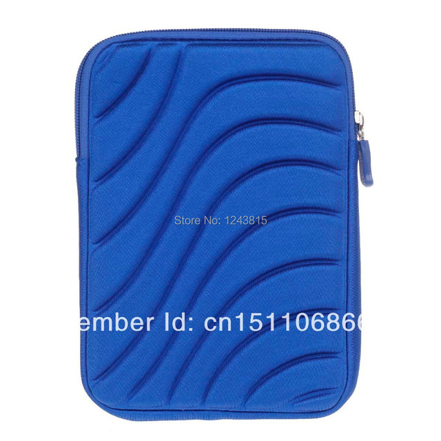 Free shipping High Quality Protective Shock-Proof Water Resistant Nylon Case for 7 Inch Tablet PC-Blue 284867
