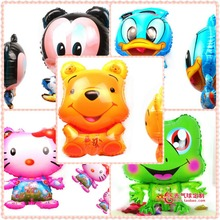 """Wholesale 250Pieces/lot Free Shipping 18"""" Animal Mylar Balloons Inflatable Helium Balloons Party Toys"""