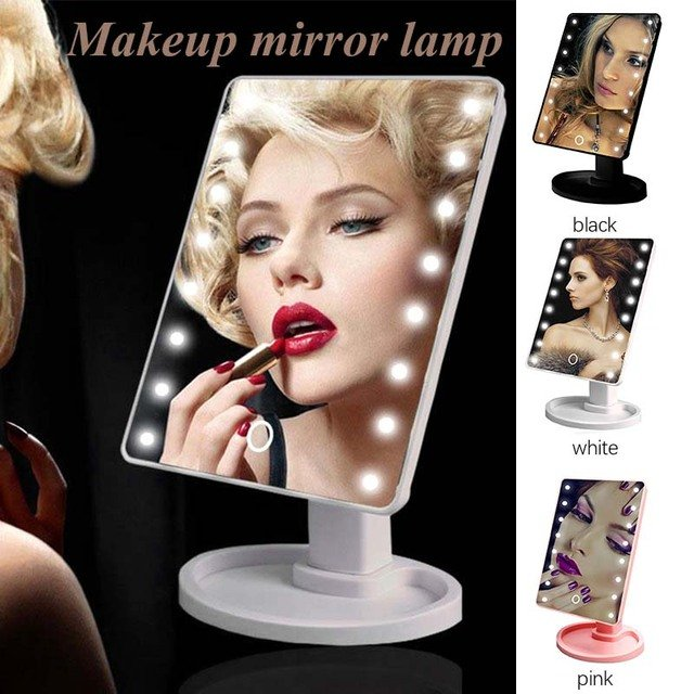 Portable Mirror Lamp 16 LED USB Interior Design Beauty Bathroom Gifts Cosmetic Makeup Home Decor LED Makeup Girl Lighting Gift
