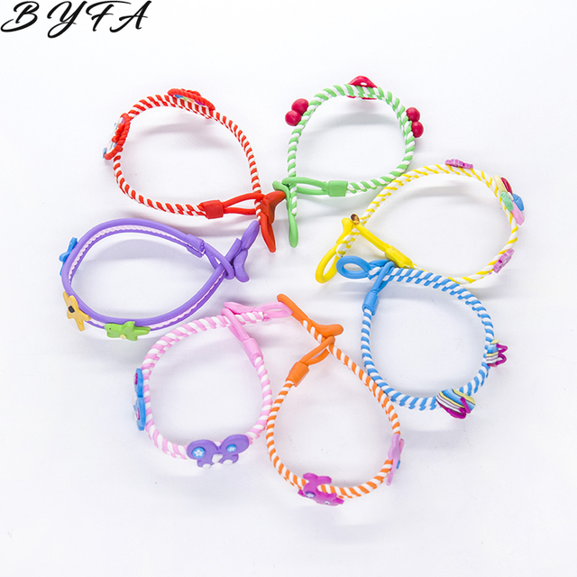 1pc Trendy Ladies Unisex Colorful Multicolor Wood Wristbands Child Bead Braided Bracelet Wholesale Birthday Party  Jewelry