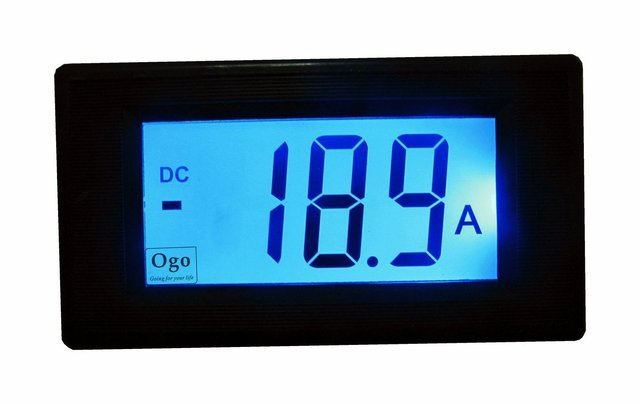 LCD Display OGO AMP Meter with Shunt 50A (OGO-AM50)