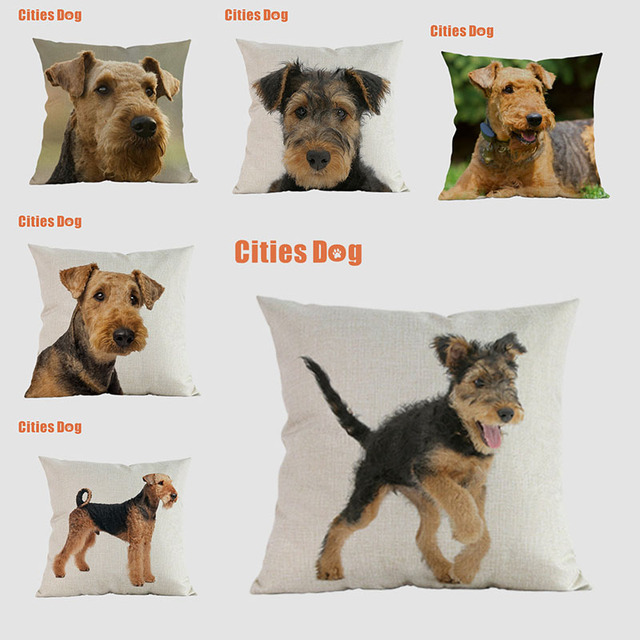 Airedale dog pillow covers decorative cushion covers for sofa Pillows Universal Terrier Dogs pillowcase cushions cover home deco