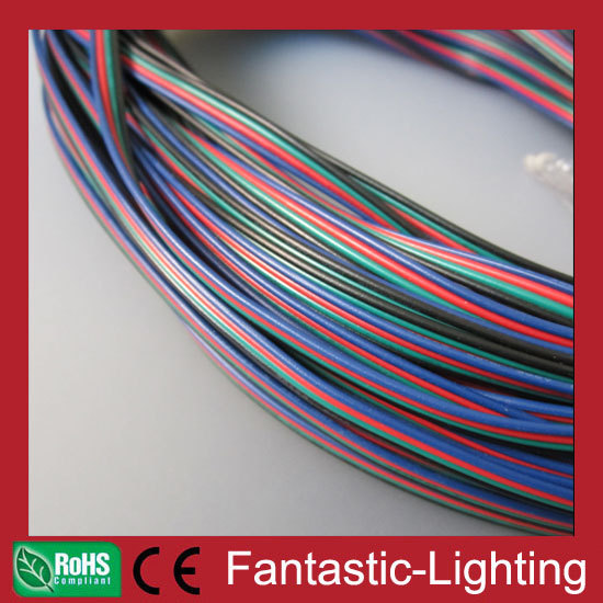 DHL free shipping 590meter RGB 4pin cable wire AWG22 for LED RGB strip light 5050 copper wire PVC RGB extension