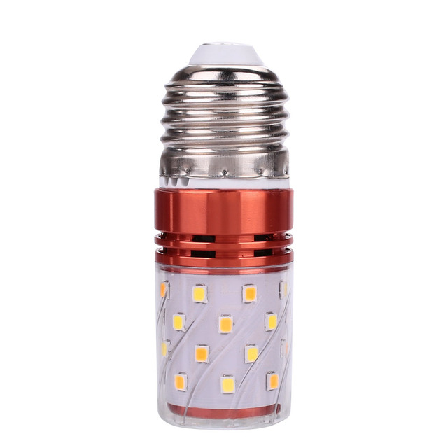 Super Bright LED Light Three-Color Dimming E27 2835 SMD 85-265V 8W 40LEDs Lamp Spare Halogen Bulb Replacement Commercial