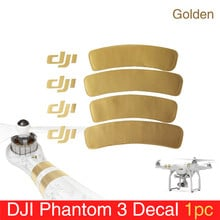 1 pc for Phantom 3 Accessory Golden Decal/Arm Sticker for DJI Phantom 1/2/3 Universal Housing Sticker Phantom 3 Decal/Sticker