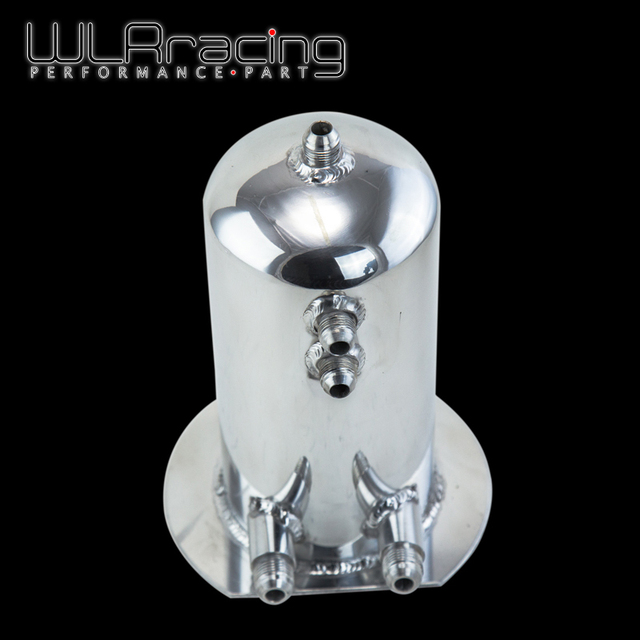WLR RACING - 2.5 LITRE DOME ALLOY FUEL SURGE TANK / SWIRL POT AN8 - 8 Out AN10 WLR-TK15