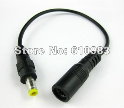(5 pieces/lot) Wholesale DC power cable male plug 5.5mm to Jack female 4.8mm