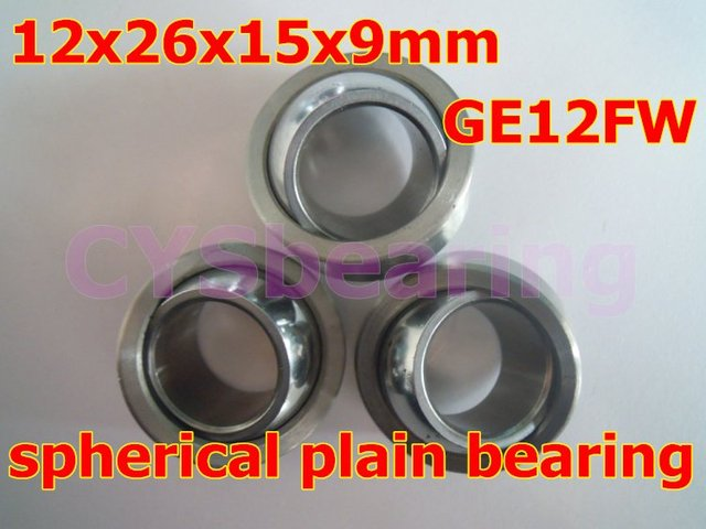 GE12FW GEG12C radial spherical plain bearing with self-lubrication for 12mm shaft