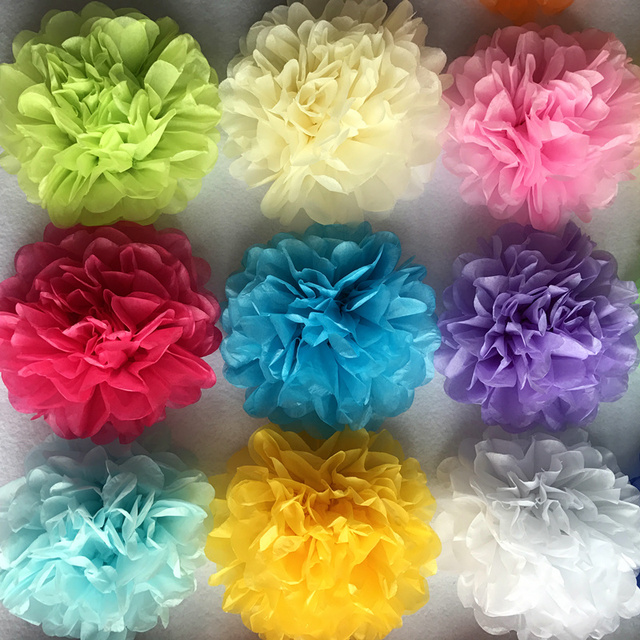 6inch Simulation Peony Flower DIY Tissue Paper Flower for Romantic Wedding Decoration Home Party Decorative Paper Flowers Balls