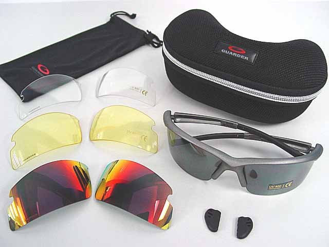 Guarder C6 Tactical Shooting Glasses w/4 Set Lens Gray