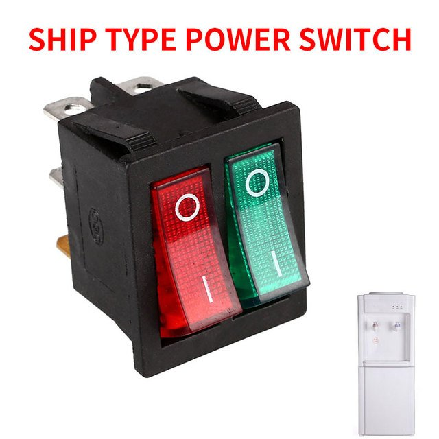 Double Boat Rocker Switch Boat Gad Get Rocker Durable Toggle Switche Lights Spare Parts  ABS DIY Spst Switch