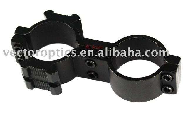 "8 FIGURE Flashlight & Laser to Scope CLAMP Ring Mount Side Picatinny Rail 30mm / 25.4mm or  1"" /1"""
