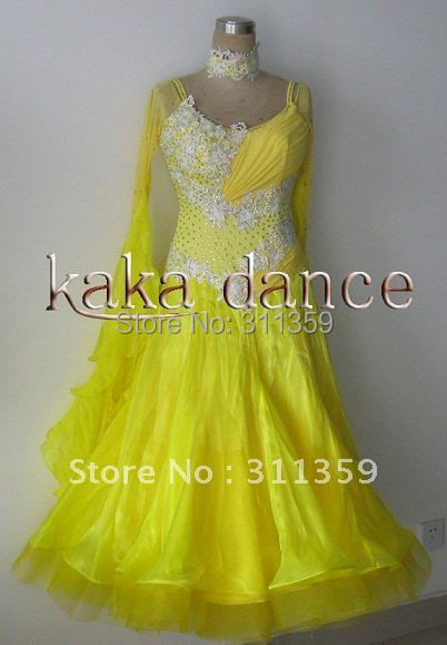 Free shipping 100% New Competition ballroom  Standard dress(any colour,ecah size)-KAKA-B220
