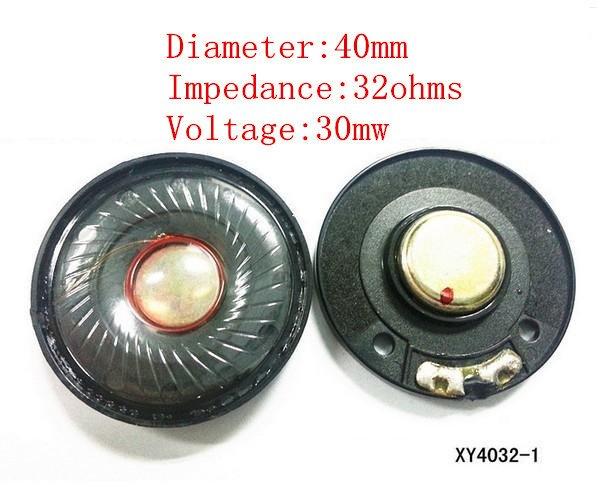 40mm speaker unit 32ohms Headset driver 1pair=2pcs