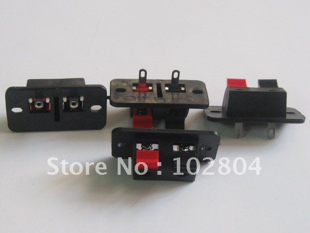 38x19mm 2pin Red and Black Push Type Speaker Terminal Board Connector HOT Sale HIGN Quality 150 Pcs Per Lot