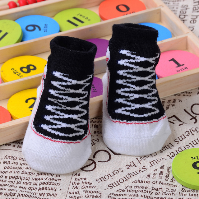 1 Pair Newborn Girl Boy Baby Kids Toddler Gift 3D Lifelike Shoes Shape Charm Anti Slip Socks Great