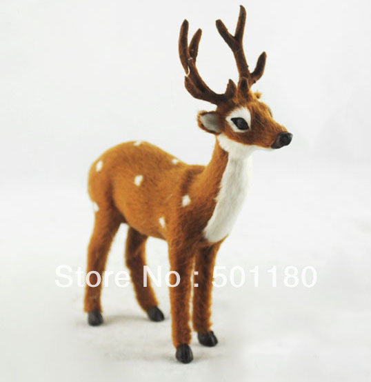 free shipping deer toy artificial deer gift decoration mini deer artificial crafts  animal deer figurine toy