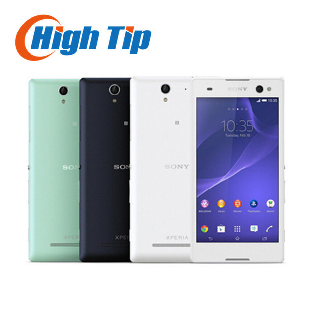 Unlocked Original Sony Xperia C3 D2533 S55U 3G 4G GSM Quad Core Android Dual Sim 8MP Camera 5.5''Screen Refurbished Cell phone