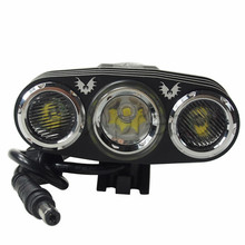 2015 New Free Shipping   JEXREE Cree XM-L2 U2 + 2 x Cree XP-G LED 3-Mode 2000 Lumens Bike Light with Battery Pack and Charger