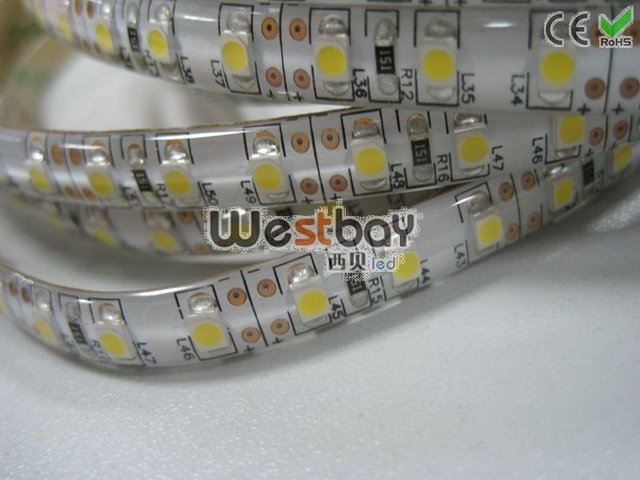 white led strip, waterproof flexible led strip,600pcs 3528 led flexible strip,5meters/roll,FPCB width 8mm, WF-12W120D-3508