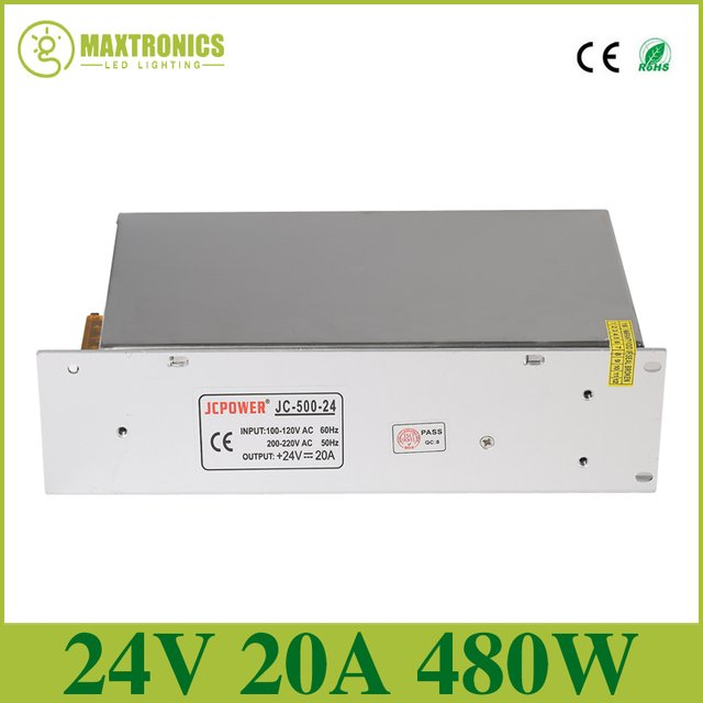 Best price 24V 20A DC Universal Regulated Switching Power Supply DC24V led power for led strip light led lamp