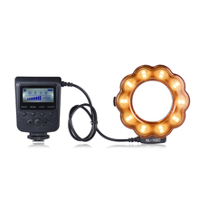 Macro LED Ring Round Flash Fill-in Light Lamp Brightness Adjustable LCD Display for Canon Nikon DLSR Camera Studio Photography