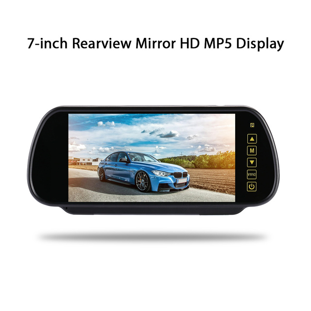 Car Rear View Mirror Monitor DVD/TV/MTV Screen Rear View Monitor Display Portable Free Calling Displayer 2-CH Video Input