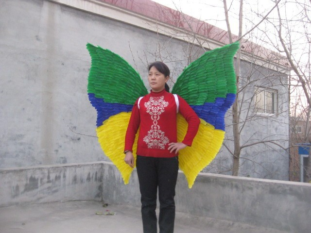 adult large props Ruslana Korshunova props customize Party Large Butterfly Feather Wings 120*120cm EMS Free shipping