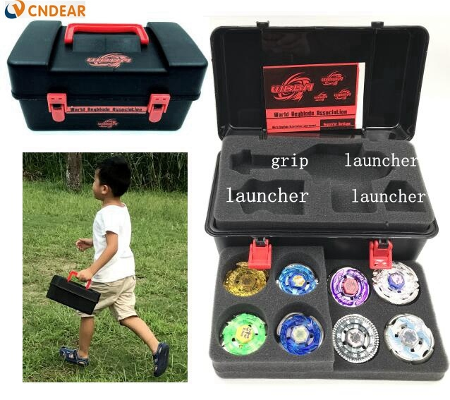 spin set BB52(more than 20 spare parts + 8 beys +1handles +2 launchers + spin box )as children birthday gift,