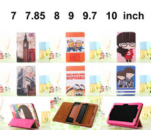 PU Leather DESPICABLE ME MINIONS Cartoon case funda For Universal tablet 7 7.85 8 9 9.7 10.1 inch pulgadas Tablet for Kids