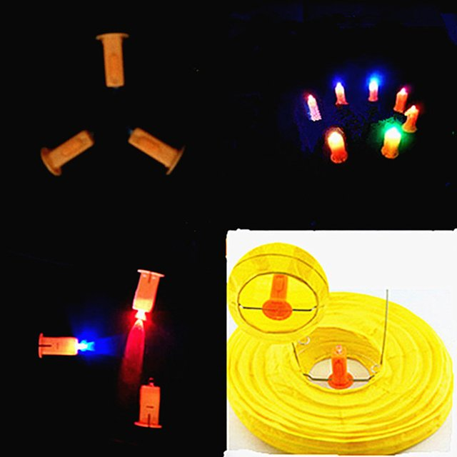 10pcs Colorful lanterns luminous accessories/pumpkin lights movement/Luminous Toys/DIY toy accessories/baby toys for children