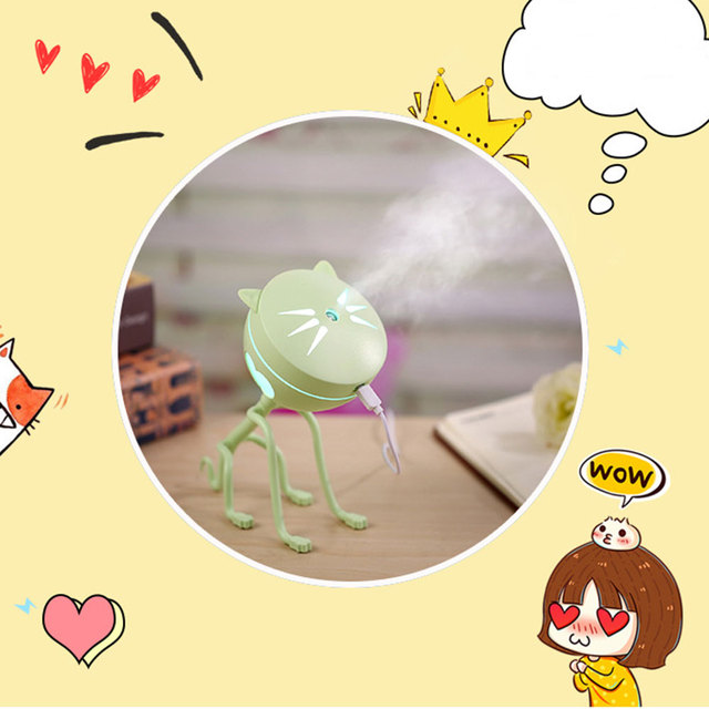 2019 Drop Shpping Cat Pattern Air Freshener Humidifier Multicolor Creative Air Cleaner Air Purifier for LED Lighting